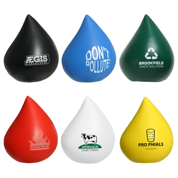 Custom Decorated Blood Drop Shaped Stress Relievers
