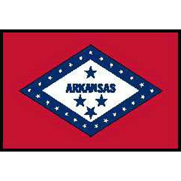 Custom Imprinted Arkansas State Flags!