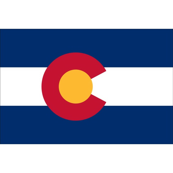 Custom Imprinted Colorado State Flags!
