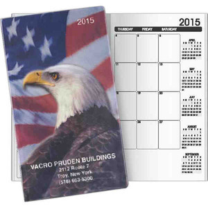 Custom Imprinted Eagle Design Pocket Planners