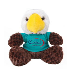 Custom Imprinted Eagle Mascot Plush Stuffed Animals