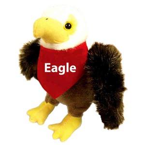 Custom Imprinted Eagle Mascot Plush Stuffed Animals!