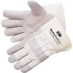 Custom Imprinted Economy Grade Cowhide Leather Palm Gloves