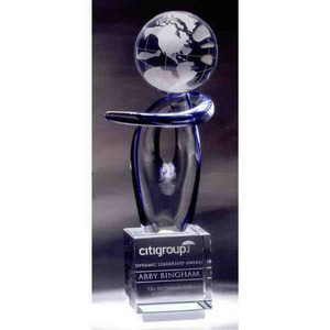 Custom Imprinted Ethereal Globe Crystal Awards