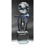 Custom Printed Globe Crystal Awards