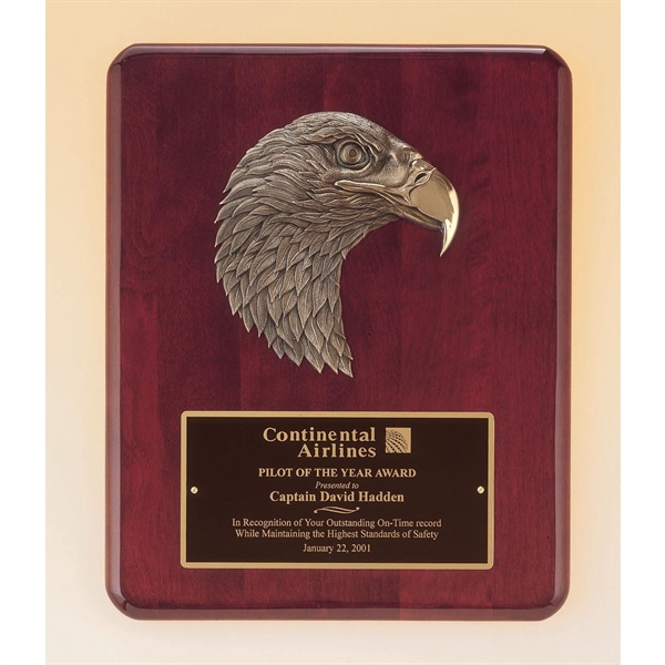 Eagle Themed Promotional Items - Airflyte Honor Award Plaque Engraved Eagle