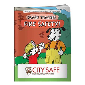 Custom Decorated Fire Safety Themed Coloring Books!