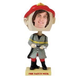 Personalized Fireman Bobble Heads