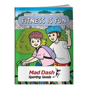 Custom Made Fitness Themed Coloring Books!