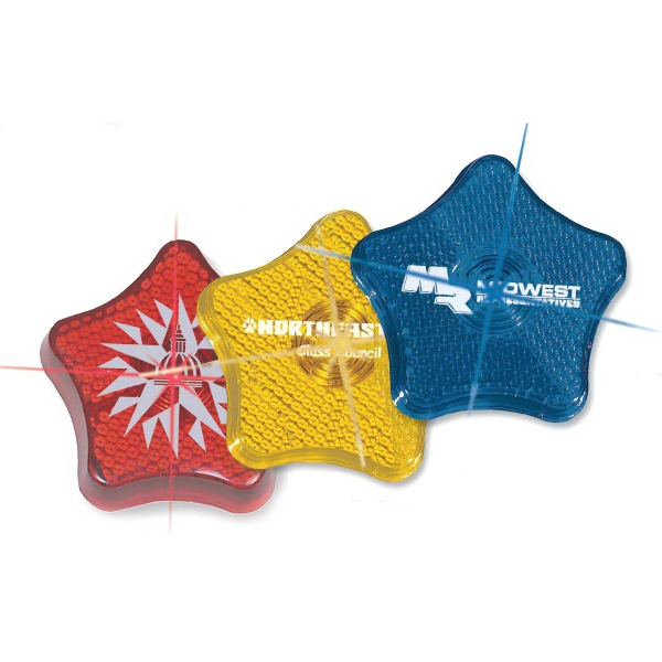 Star Shaped Promotional Items - Star Shaped Safety Reflectors