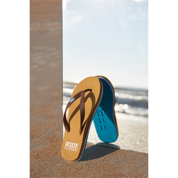 6d4134d9d702 Tan Through Flip Flop Sandals - Custom Imprinted Promotional Items ...