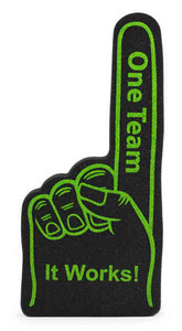 Custom Imprinted Foam Hands!