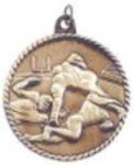 Custom Imprinted Football High Relief Medals