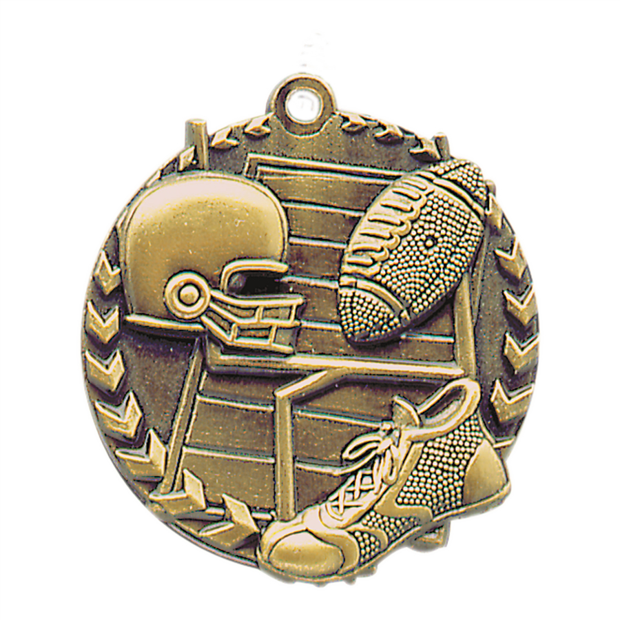Personalized Football Millennium Medals!