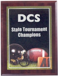 Custom Imprinted Football Photo Sport Plaques