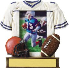 Custom Imprinted Football Resin Picture Frames