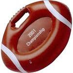 Custom Printed Football Shaped Inflatable Cushions!