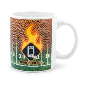 Football Promotional Items - Football Shaped Mugs