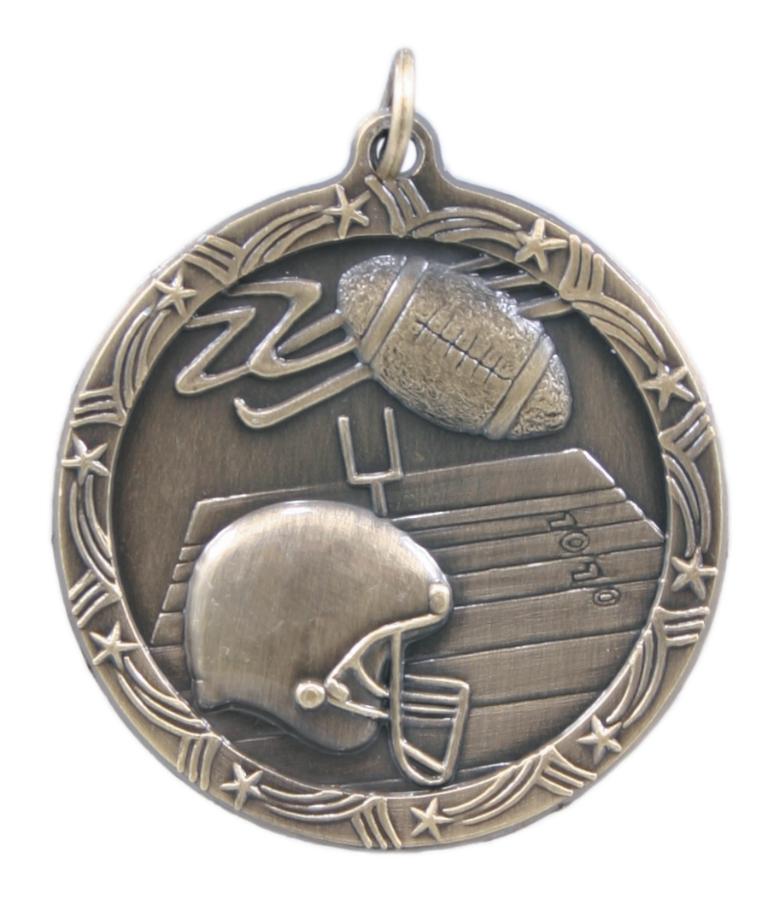 Custom Printed Football Shooting Star Medals!