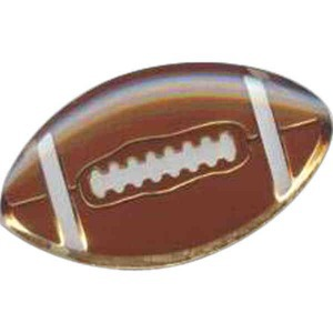 Custom Imprinted Football Stock Sports Lapel Pins