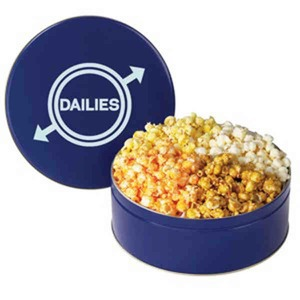 Filled Gift Tins - Four Flavor Popcorn Tins