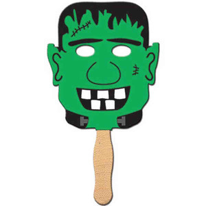 Custom Imprinted Frankenstein Halloween Fan Masks
