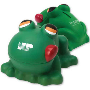 Frog Themed Promotional Items - Frog Shaped Savings Banks