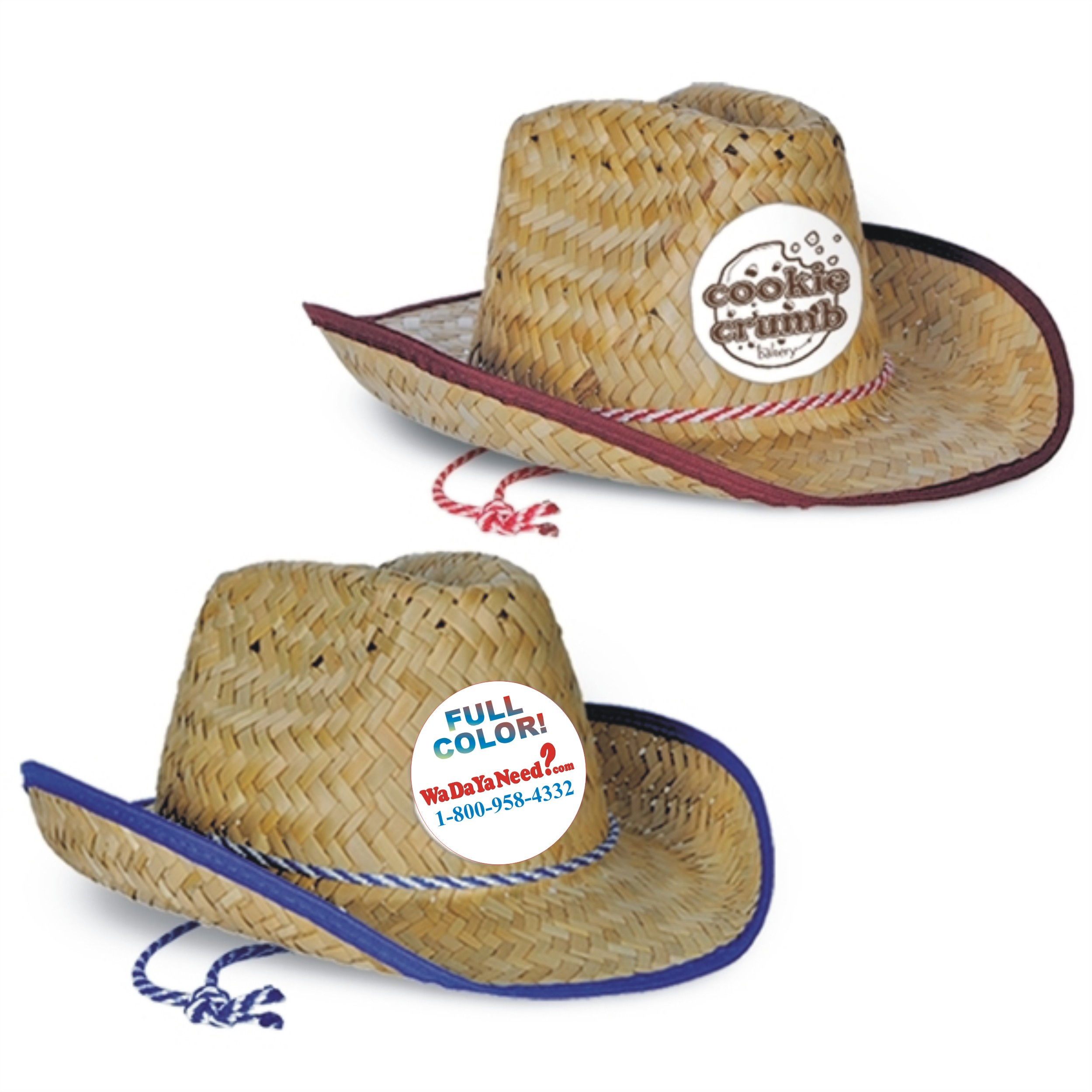 ae636633 Full Color Imprint Cowboy Hats - Custom Imprinted Promotional Items ...
