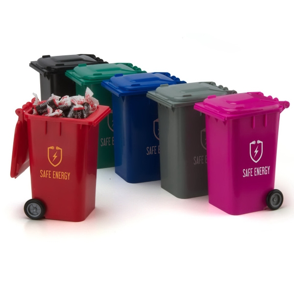 Custom Printed Garbage Can Containers!