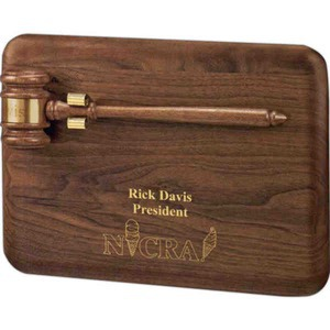 Personalized Gavel Plaques with Deluxe Walnut Gavels!