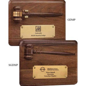 Custom Imprinted Gavel Plaques With Removable Walnut Gavel