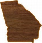Custom Imprinted Georgia State Shaped Plaques