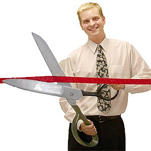 Custom Imprinted Giant Ceremonial Scissors