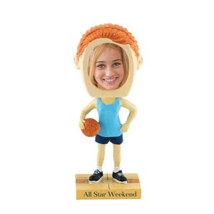 Basketball Promotional Items - Girls Basketball Player Bobble Head Picture Frames