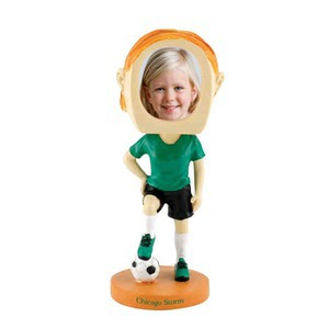 Custom Printed Girls Soccer Player Bobble Head Picture Frames!