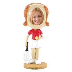 Bobble Head Picture Frames - Girls Tennis Player Bobble Head Picture Frames