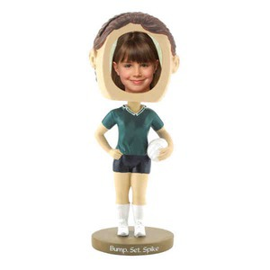 Bobble Head Picture Frames - Girls Volley Ball Player Bobble Head Picture Frames