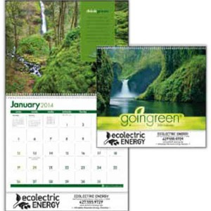 Custom Imprinted Going Green Span A Year Commercial Calendars