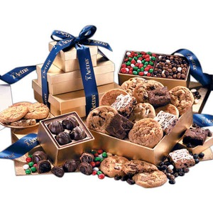 Custom Imprinted Golden Gift Box Food Gift Sets!