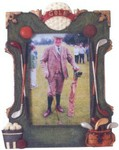 Custom Imprinted Golf Resin Picture Frame