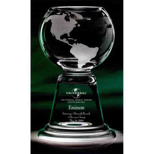Custom Imprinted Grande Planet Globe Crystal Awards