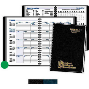 Customized Green and Black Contractors Memo Commercial Calendars!
