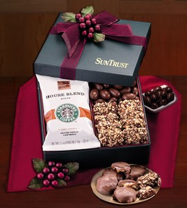 Custom Designed Green Gift Box Food Gift Sets