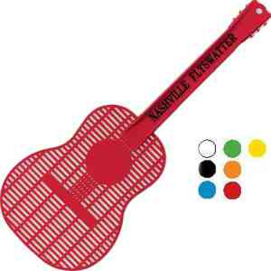 Custom Decorated Guitar Shaped Fly Swatters!