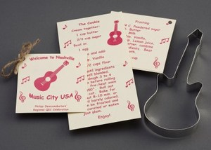 Music Themed Items - Guitar Stock Shaped Cookie Cutters