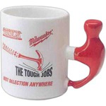 Custom Printed Hammer Handle Shaped Mugs!