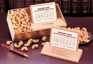 Hard Wood Desk On Hardwood Desk Calendar And Food Gift Sets Custom  Decorated Lower