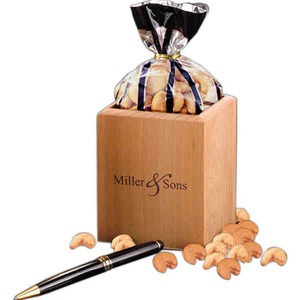 Custom Imprinted Hardwood Pen Pencil and Food Gift Sets
