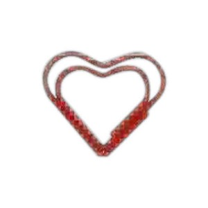 Custom Imprinted Heart Bent Shaped Paperclips in Zip Pouches