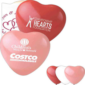 Custom Imprinted Heart Shaped Balloons